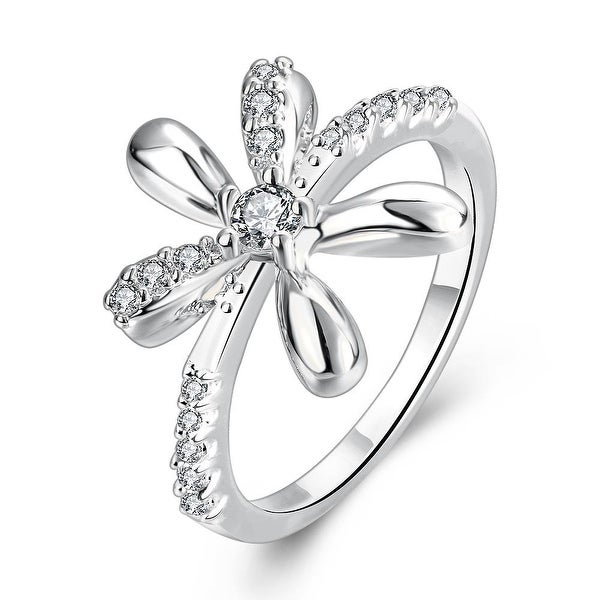 Orchid Floral White Gold Inspired Ring