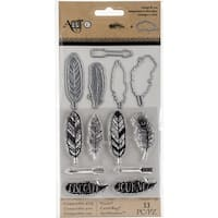 Art-C Stamp & Die Set-Feathers