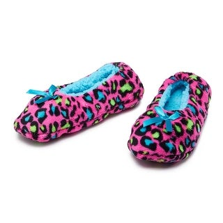Snuggly Safari Womens Fuzzy Fleece Animal Print House Slipper