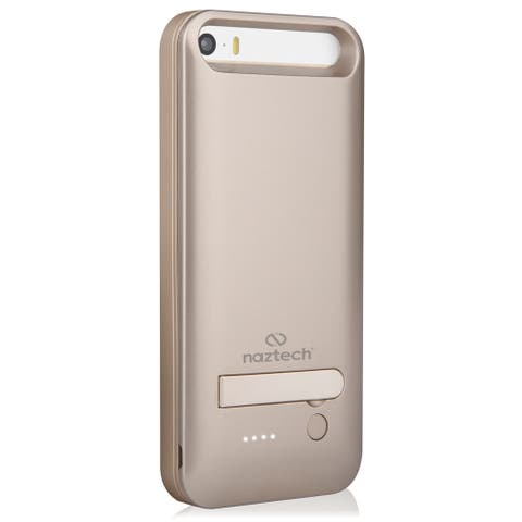 Naztech MFi Powercase with Kickstand for iPhone 5s/SE - Gold