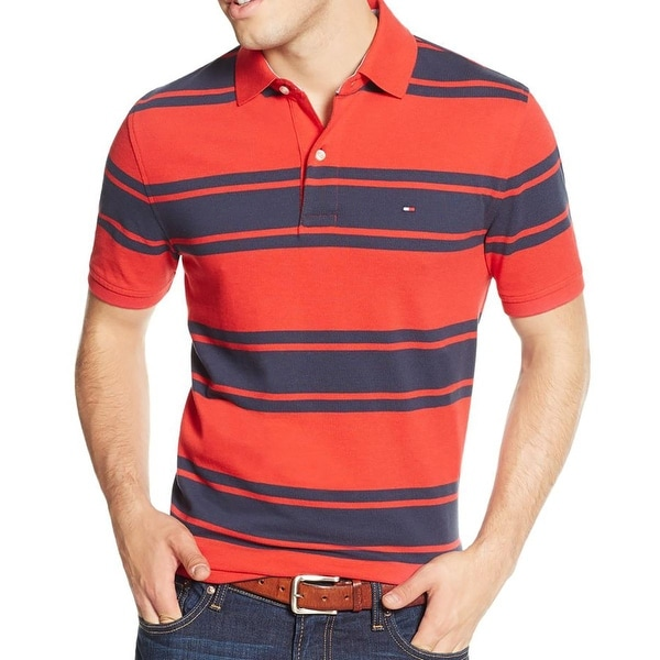 Tommy Hilfiger Mens Adam Polo Shirt Striped Classic Fit