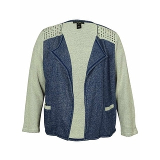 Style & Co Women's Studded Detail Cardigan