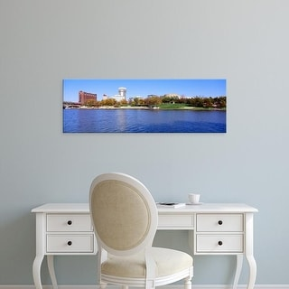 Easy Art Prints Panoramic Images's 'Buildings in a city, Wichita, Kansas, USA' Premium Canvas Art