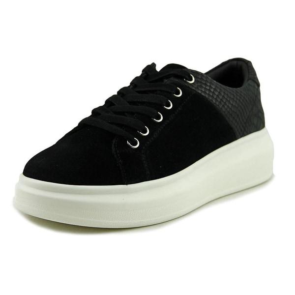 J/Slides Dania Women Suede Black Fashion Sneakers