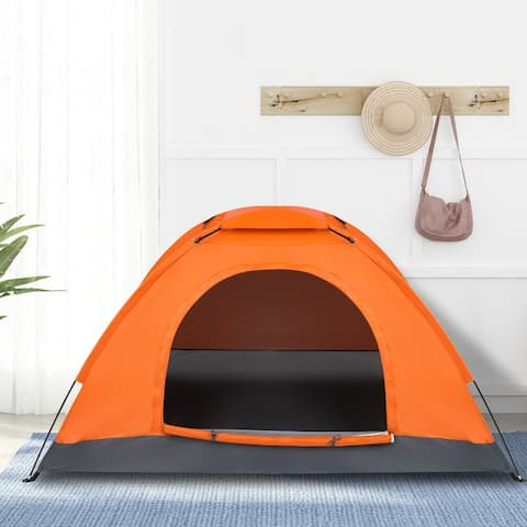 1-Person Pop Up Camping Dome Tent - Oxford Fabric & Glass Fiber