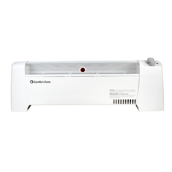 Comfort Zone CZ600 1500-Watt Convection Baseboard Heater with Silent Operation, White. Opens flyout.