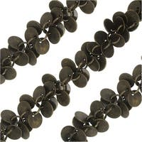 Bulk Chain, with 6mm Coin Charm Links, Sold By The Inch, Antiqued Brass