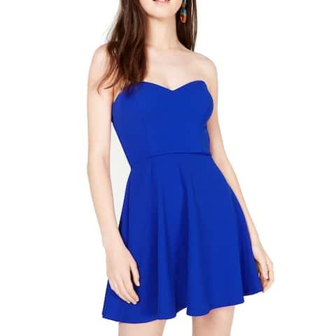 B. Darlin Electric Blue 14 Junior A-Line Dress Strapless Fit & Flare