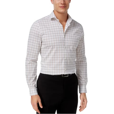 Perry Ellis Mens Wrinkle Resistant Button Up Shirt