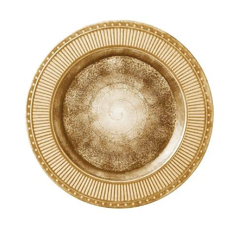 Merritt Ivy Garden Melamine Dinner Plate - Gold - 11.2 x 11.1 x 1.7
