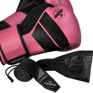 Hayabusa S4 Beginner Boxing Glove Kit with Handwraps and Wash Bag - Pink