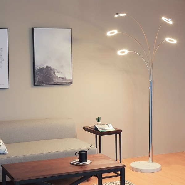 CO-Z Modern 73-inch Chrome Finish Floor Lamp with 5 Dimmable Lights. Opens flyout.