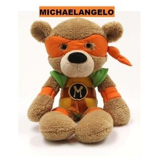 "14"" Teenage Mutant Ninja Turtles Michaelangelo Fuzzy Bear Stuffed Animal Toy - Brown"