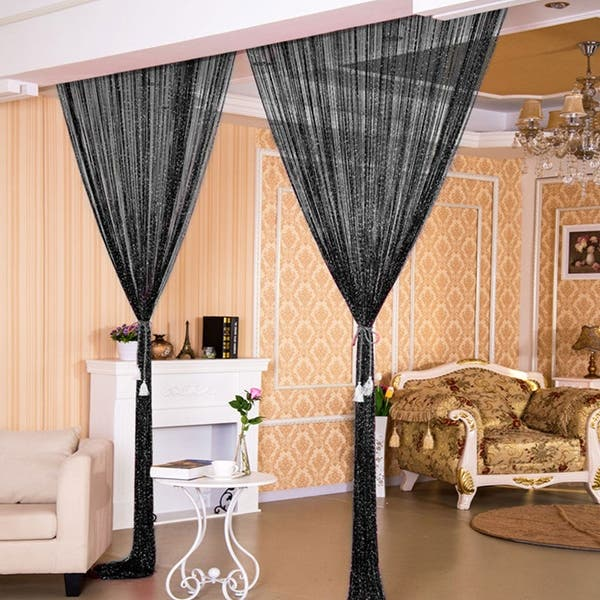 Home Decor Threads Glitter String Curtains One Panel 39 X78 On Sale Overstock 16958836