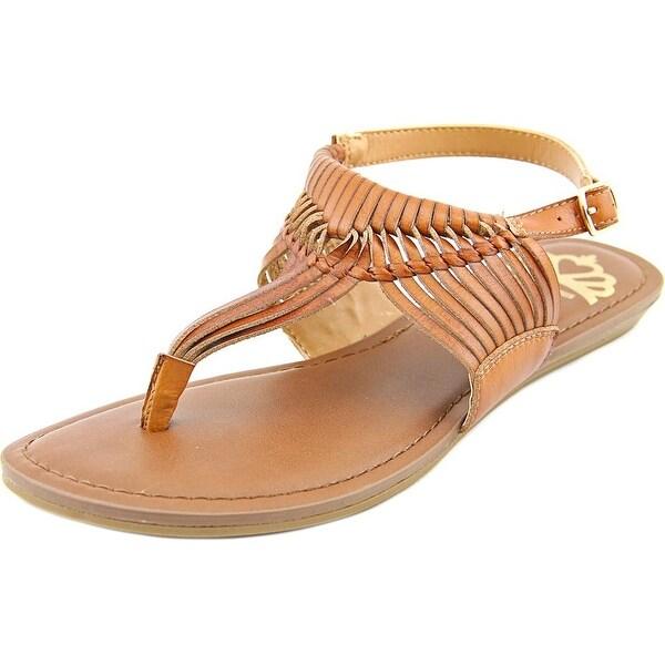 Fergalicious Sadey Women Open Toe Synthetic Tan Thong Sandal