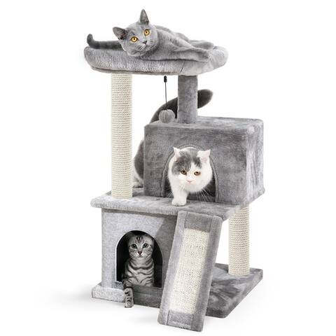 "34"" Stable Cute Sisal Cat Climb Holder Cat Tower"