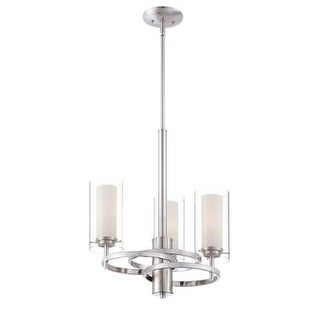 "Forecast Lighting FK0001836 3 Light 18"" Wide Chandeliers from the Hula Collection - Satin Nickel"