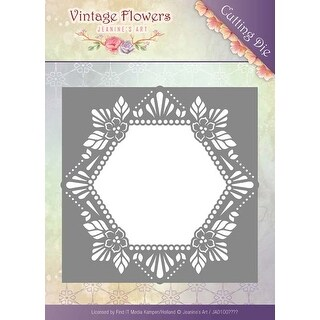 Floral Hexagon - Find It Trading Jeanine's Art Vintage Flowers Die