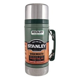 Stanley 10-01229-014 Wide Mouth Bottle, 24 Oz, Green, Stainless Steel