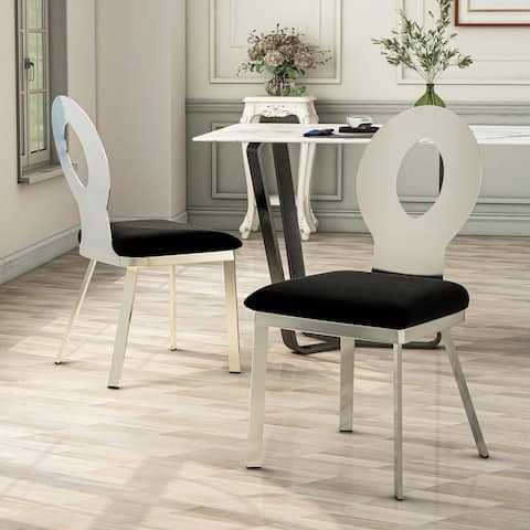 Furniture of America Zaia Contemporary Silver Dining Chairs (Set of 2)