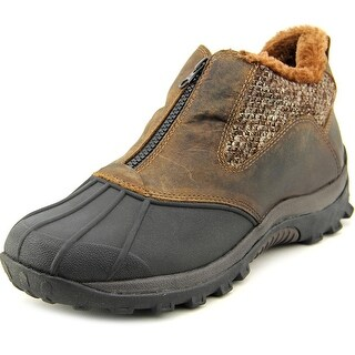 Propet Blizzard Ankle Zip Women D Round Toe Leather Brown Boot