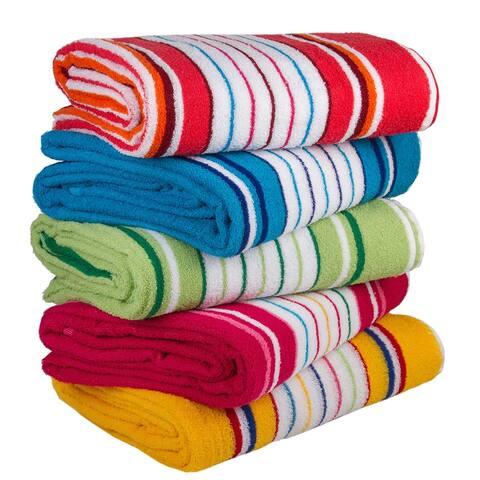 STP-Goods Striped Cotton Terry Throw Blanket