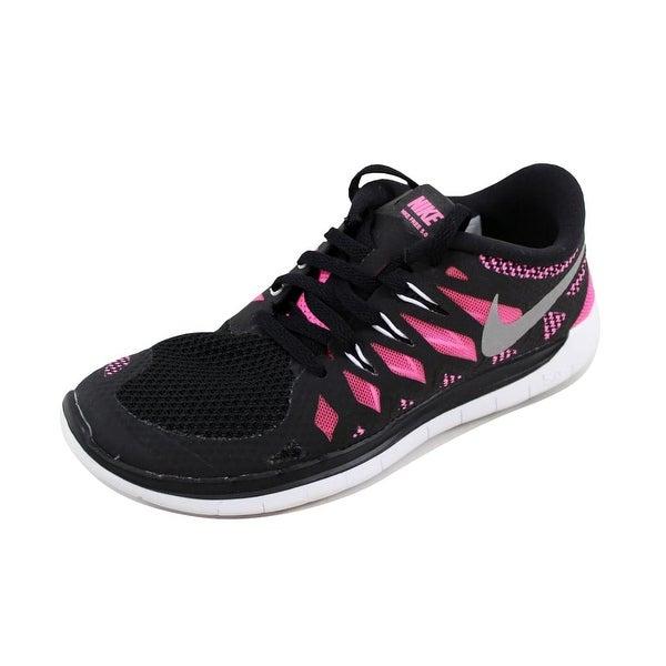 62176f8c9d1c Shop Nike Grade-School Free 5.0 Black Hyper Punch-White 644446-001 ...