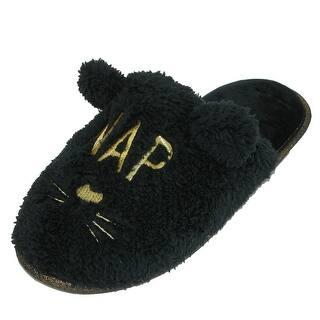 Dearfoams Women's Novelty Cat Nap Pile Scuff Slipper with Eye Mask https://ak1.ostkcdn.com/images/products/is/images/direct/2a269befbd0d5de09525d1efcfae156793f1465a/Dearfoams-Women%27s-Novelty-Cat-Nap-Pile-Scuff-Slipper-with-Eye-Mask.jpg?impolicy=medium