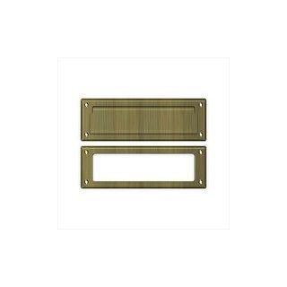 Deltana MS626 8-7/8 Inch Wide Solid Brass Mail Slot with Interior Frame