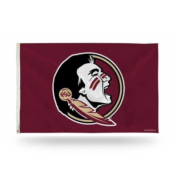 3' x 5' Berry Red and Black College Florida State Seminoles Rectangular Banner Flag - N/A