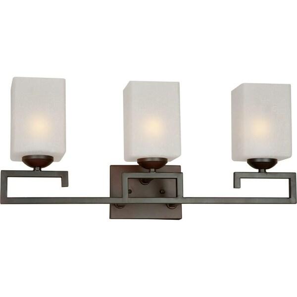 Forte Lighting 5141-03 3 Light Bathroom Vanity - Antique Bronze