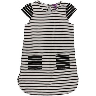 Aqua Girls Striped Casual Dress - 10