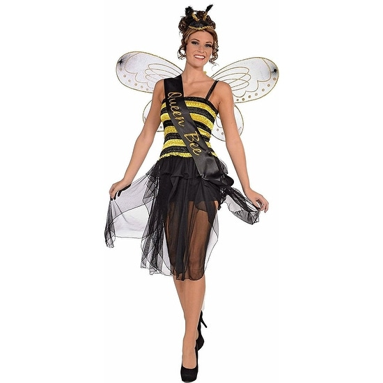 Queen Bee Sash Womens Costume Accessory - Multi
