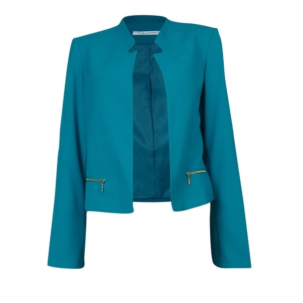 Calvin Klein Women's Cropped Invert Lapel Jacket