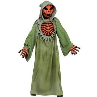 Fun World Pumpkin Reaper Child Costume - Green
