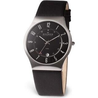 Skagen Men's Classic 233XXLSLB Black Leather Quartz Fashion Watch