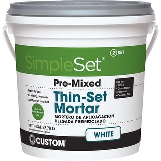 simpleset Gl Wht Pm Thinset Mortar