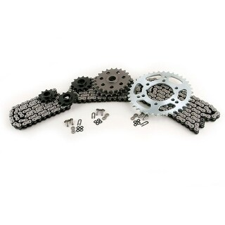 1995 - 1997 Polaris 400L Scrambler 4X4 CZ ATV X-Ring Chain & Sprocket Set