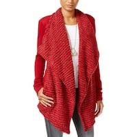 Lucky Brand Womens Cardigan Sweater Wool Blend Flyaway