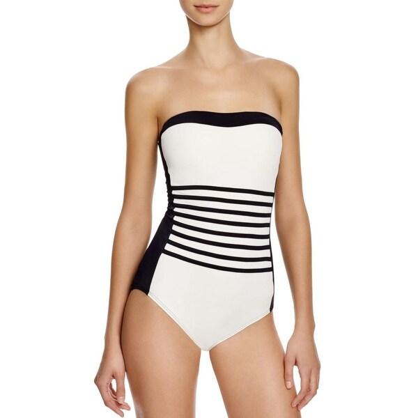 Shop DKNY Swim Womens Stretch Shelf Bra One-Piece Swimsuit - Ships ... d3f95a3e36