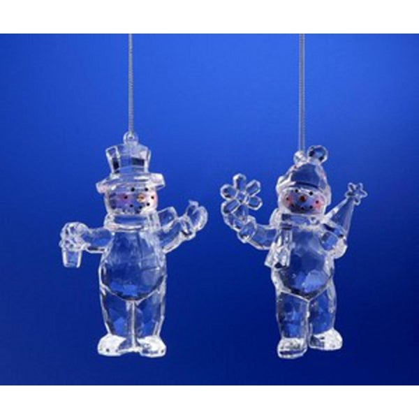 """Club Pack of 16 Icy Crystal Christmas Snow People Ornaments 4"""""""