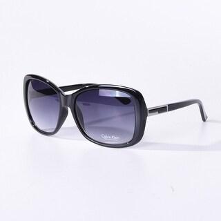 Calvin Klein Women'S Cwr678S-001 Rectangular Sunglasses, Black, 16 Mm - Black