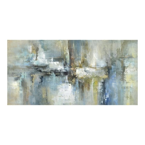 Aurelle Home Modern Abstract Canvas Painting Wall Decor