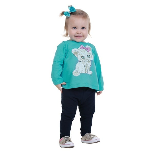 Pulla Bulla Baby Girl Long Sleeve Shirt Graphic Tee