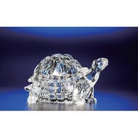 "Pack of 4 Icy Crystal Decorative Turtle Candy Jar 3"" - Clear"