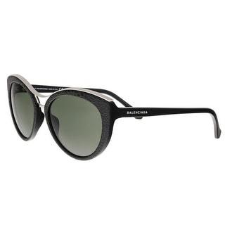 Balenciaga Shiny Black Cat Eye Frames - BA0033 01N - 57-18-135