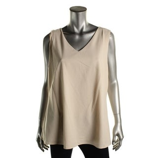 Nic + Zoe Womens Open Back Sheer Layer Pullover Top
