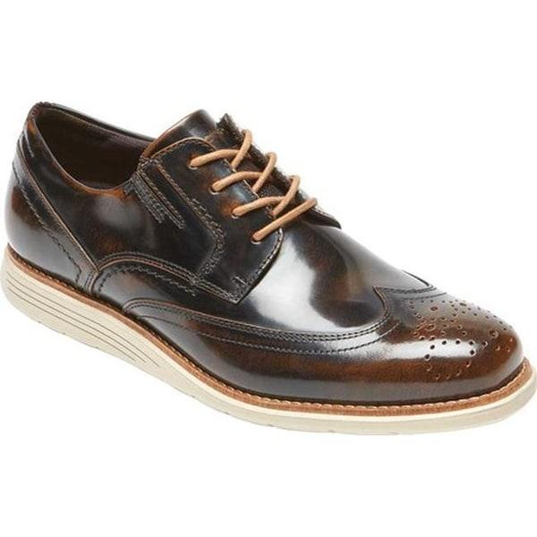 afa51c0b0b7e Rockport Men  x27 s Total Motion Sport Dress Wingtip Oxford Dark Brown Box  Leather