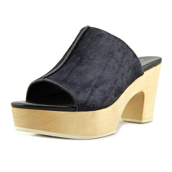 Elie Tahari Tortuga Women Open Toe Suede Blue Platform Sandal
