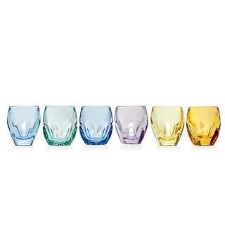 Godinger 48738 1.5 oz Stockholm Color Shot - Set of 6